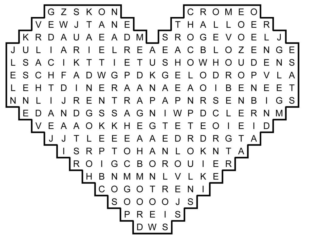 C - Woordzoeker Valentijnsdag 2015-1