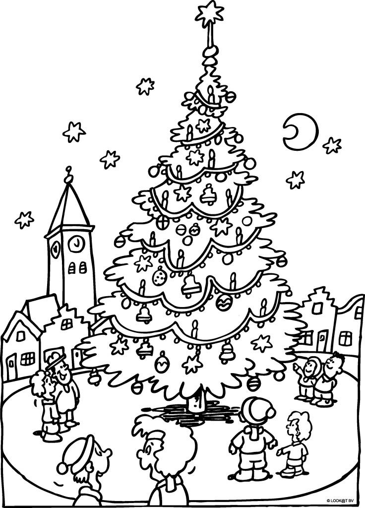Kleurplaat Kerst Nieuwjaar Idee 235 N Over Kleurpagina S